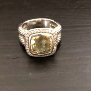 David Yurman Albion 11mm Lemon Citrine Ring